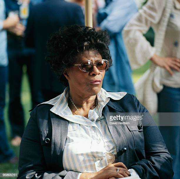 American singer Ella Fitzgerald at the Montreux Jazz Festival held in Montreux Switzerland on July 17 1975