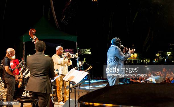 American Jazz singer Gregory Porter and his Quartet perform with the Revive Big Band and special guest Terence Blanchard on trumpet at a dual...