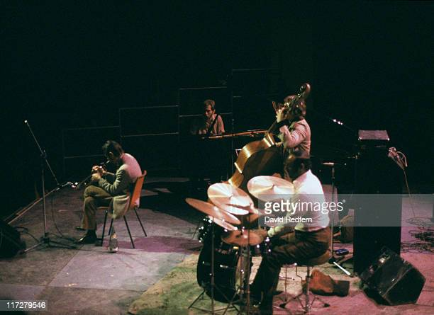American jazz trumpeter and singer Chet Baker in concert circa 1975
