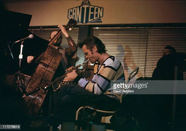 American jazz trumpeter and singer Chet Baker performs at the Canteen Club circa 1983