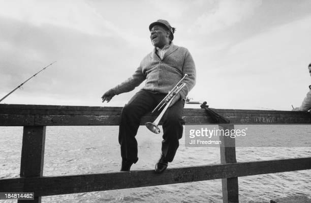 American jazz trumpeter bandleader and composer Dizzy Gillespie at Redondo Beach California 1981