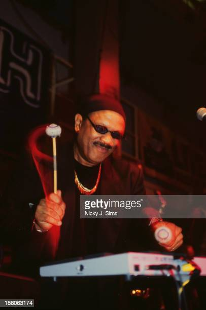 American jazz vibraphone player and composer Roy Ayers performing at the Jazz Cafe London circa 1997