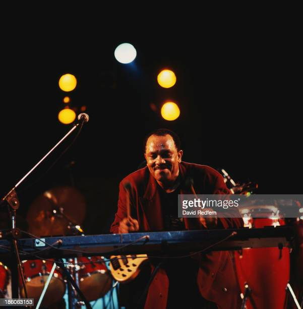 American jazz vibraphone player and composer Roy Ayers performing circa 1990
