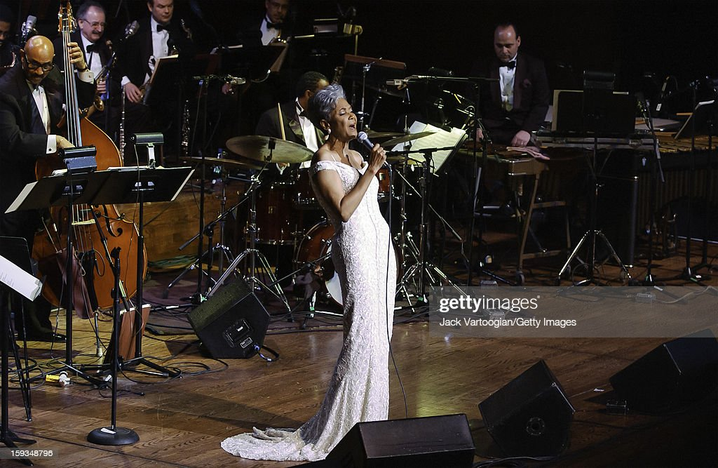 American jazz vocalist Nancy Wilson performs at Jazz at Lincoln Center's 'Nancy Wilson With Strings Celebrating Four Decades of Music' concert in...