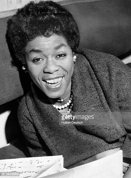 American jazz vocalist Sarah Vaughan 1960 In Britain [bar concerts] at the Royal Albert Hall Vaughan Sarah American singer born in New Jersey A jazz...