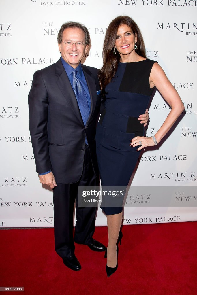American Jewelry Designer Martin Katz and Kelly Katz attend the New York Palace's unveiling celebration on September 17, 2013 in New York City.