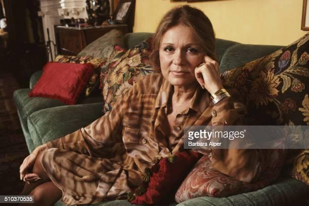 American journalist activist and feminist Gloria Steinem in her New York City apartment 2nd November 1990
