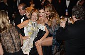 American journalist and author Katie Couric Jenna DewanTatum and Chrissy Teigen attend the annual White House Correspondent's Association Gala at the...
