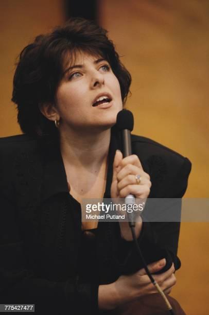 American journalist and author Naomi Wolf speaks at the Hay Festival of Literature Arts in HayonWye Wales in May 1994