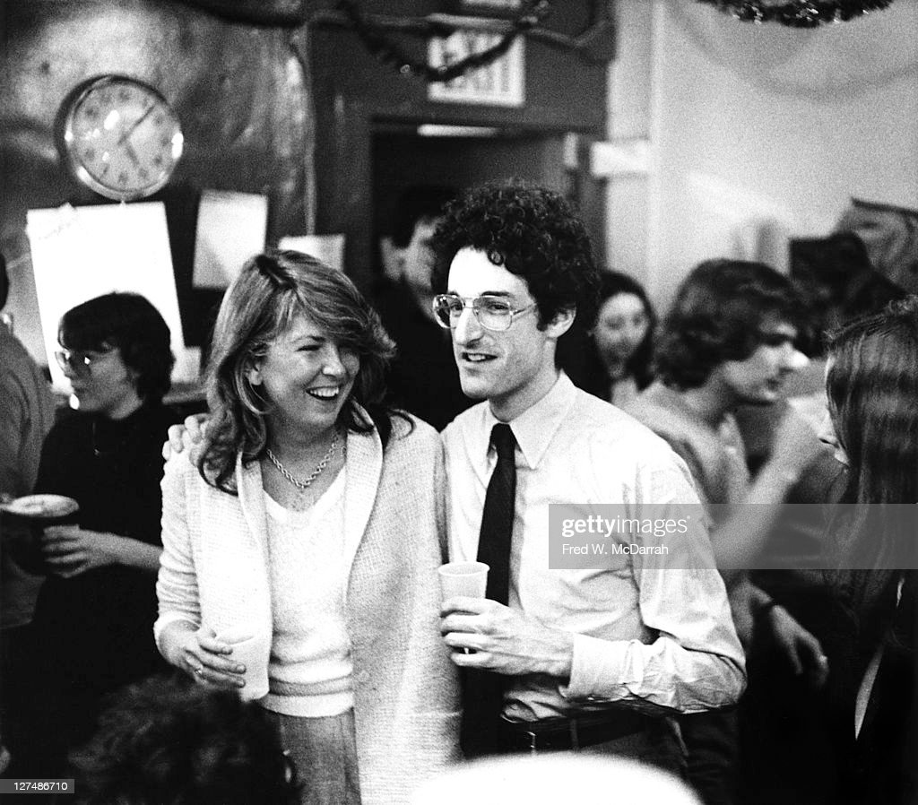 American journalist Susan Lyne managing editor of the Village Voice newspaper stands with the Voice's publisher David Schneiderman at an unspecified...