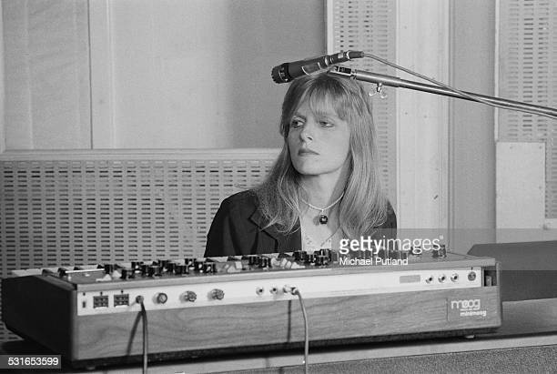 American keyboard player Linda McCartney of British rock group Wings at Abbey Road Studios to record the album 'Venus And Mars' London 15th November...