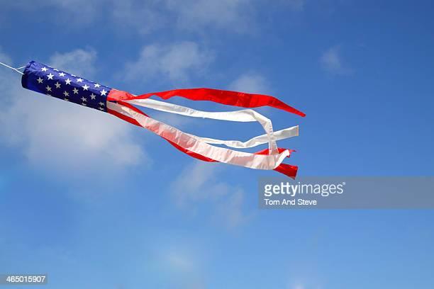 American kite flying in the sky
