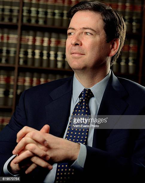 American lawyer and the current Director of the Federal Bureau of Investigation is photographed in his office for Self Assignment on June 1 2003 in...