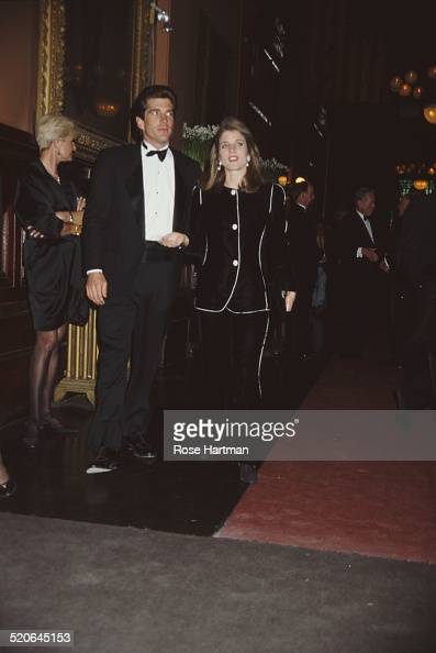 American lawyer journalist and magazine publisher John F Kennedy Jr and American author and attorney Caroline Kennedy attend the first Jacqueline...