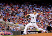 American League AllStar Chris Sale of the Chicago White Sox pitches against the National League AllStars during the 85th MLB AllStar Game at Target...