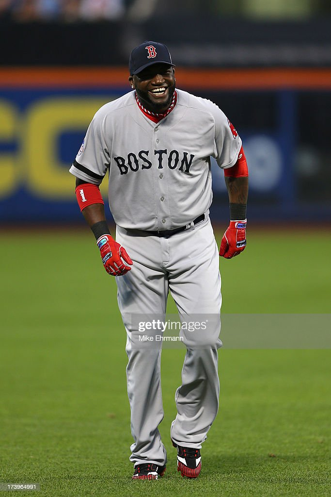 American League All-Star David Ortiz #34 of the Boston Red Sox smiles during the 84th MLB All-Star Game on July 16, 2013 at Citi Field in the Flushing neighborhood of the Queens borough of New York City.
