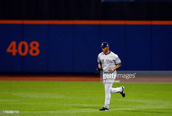 American League AllStar Mariano Rivera of the New York Yankees enters the game in the eighth inning of the 84th MLB AllStar Game on July 16 2013 at...