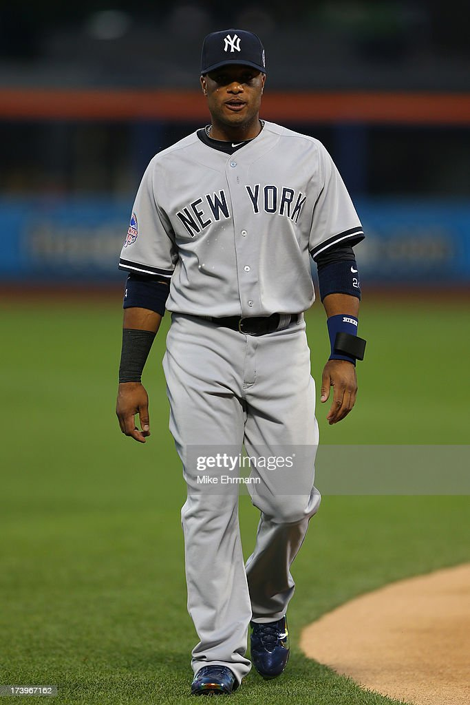 American League All-Star <a gi-track='captionPersonalityLinkClicked' href=/galleries/search?phrase=Robinson+Cano&family=editorial&specificpeople=538362 ng-click='$event.stopPropagation()'>Robinson Cano</a> #24 of the New York Yankees walks during the 84th MLB All-Star Game on July 16, 2013 at Citi Field in the Flushing neighborhood of the Queens borough of New York City.