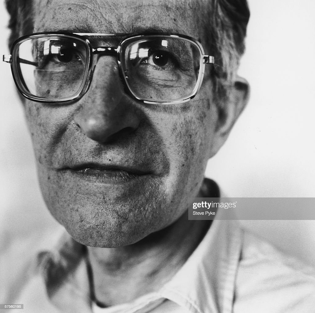 American linguistics expert <a gi-track='captionPersonalityLinkClicked' href=/galleries/search?phrase=Noam+Chomsky&family=editorial&specificpeople=635340 ng-click='$event.stopPropagation()'>Noam Chomsky</a> in Boston, 1990.
