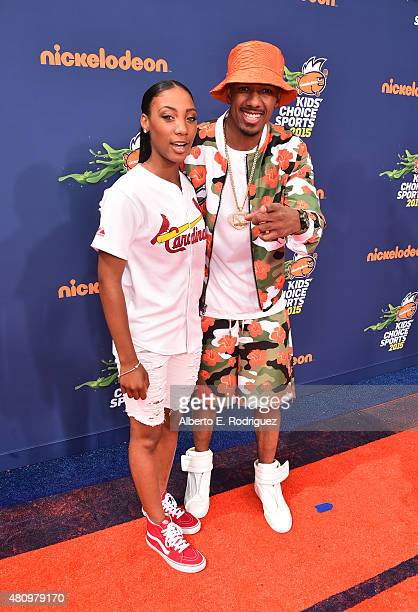 American Little League Baseball pitcher Mo'ne Davis and TV personality Nick Cannon attend the Nickelodeon Kids' Choice Sports Awards 2015 at UCLA's...