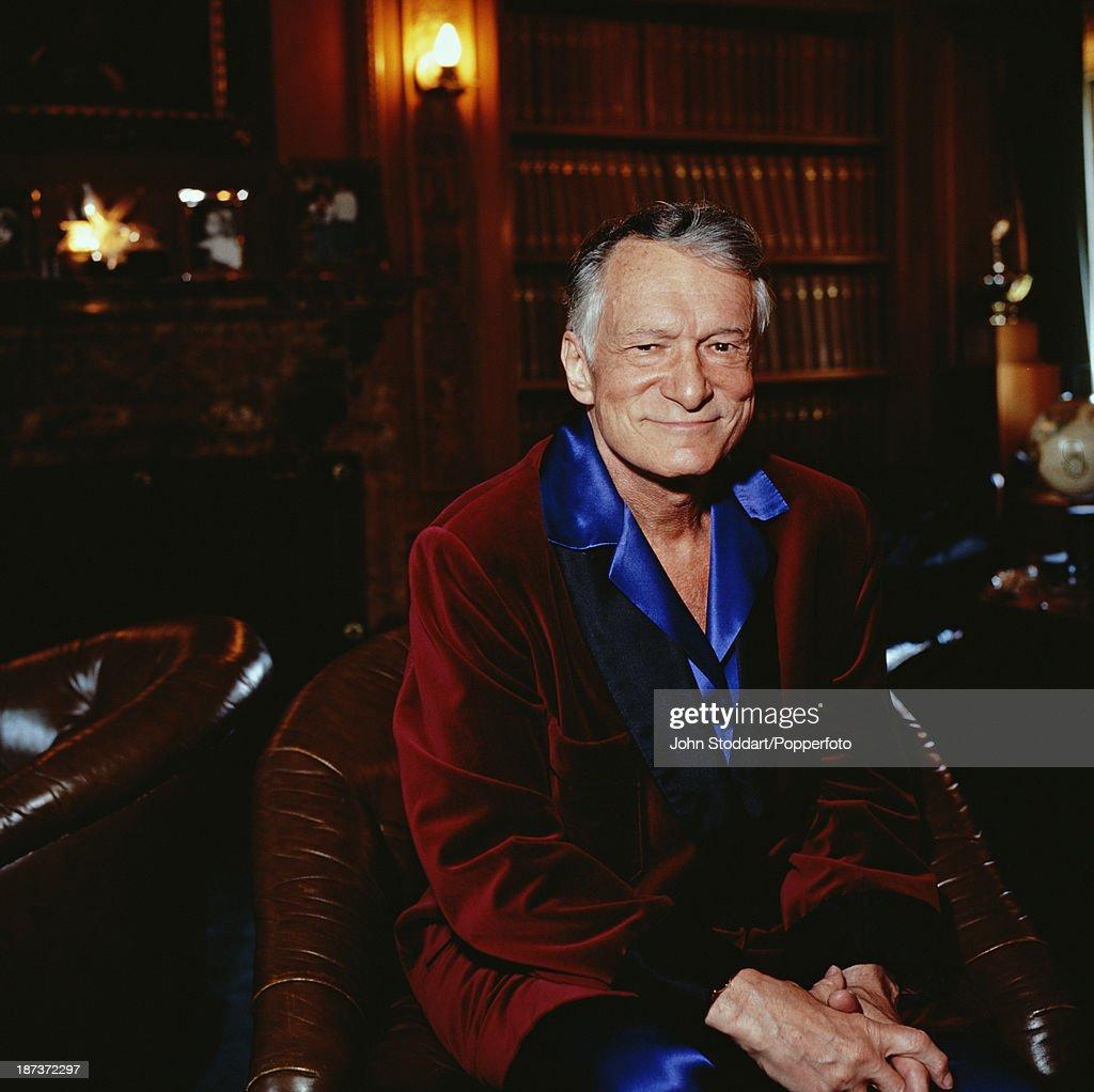 American magazine publisher and founder of Playboy Enterprises Hugh Hefner, 1999.