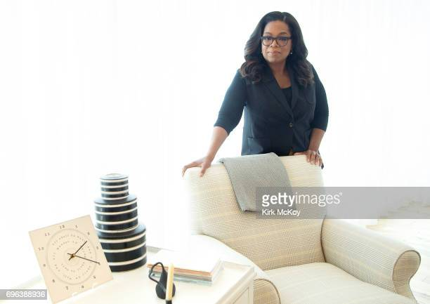 American media proprietor talk show host actress producer and philanthropist Oprah Winfrey is photographed for Los Angeles Times on April 28 2017 in...