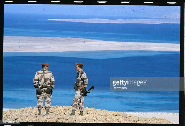 American MFO are seen here They are peacekeepers on observation duty on this strategic island off the coast of Sinai in the Golf of Aqaba
