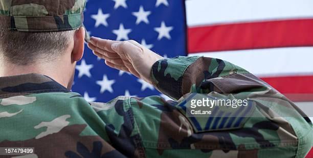 Exército Americano saúde contra bandeira americana