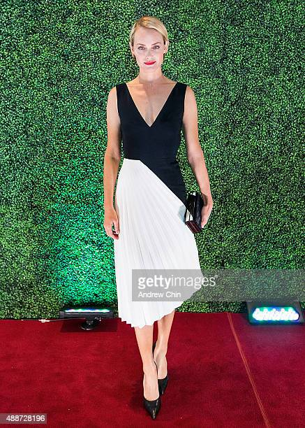 American model and actress Amber Valletta attends Nordstrom Vancouver Store Opening Gala Red Carpet at Vancouver Art Gallery on September 16 2015 in...