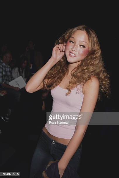 American model and actress Devon Aoki at the Sean John Fall Menswear Collection fashion show New York City USA 2002