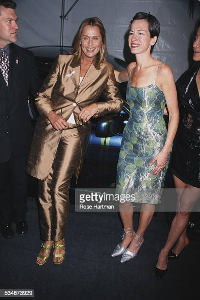 American model and actress Lauren Hutton and American fashion designer Cynthia Rowley attend People magazine's '50 Most Beautiful People' issue party...