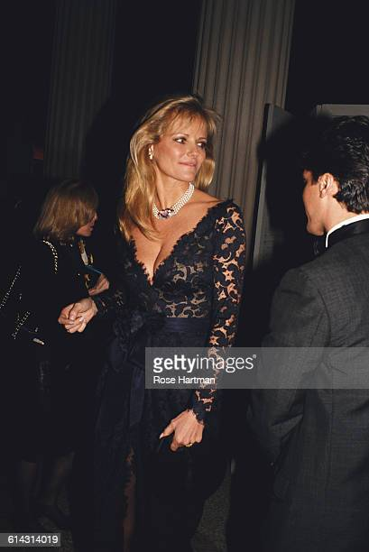 American model and fashion designer Cheryl Tiegs at a Met Gala at the Metropolitan Museum of Art in New York City circa 1995