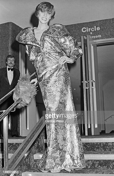 American model Angela Bowie attends the premiere of the film 'The Man Who Fell to Earth' starring her husband David Bowie at the Leicester Square...