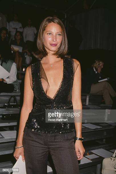 American model Christy Turlington attends the Marc Jacobs Spring 2003 fashion show in New York City USA 2002