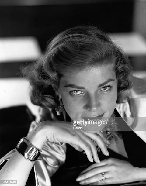 American model theatre and film actress Lauren Bacall