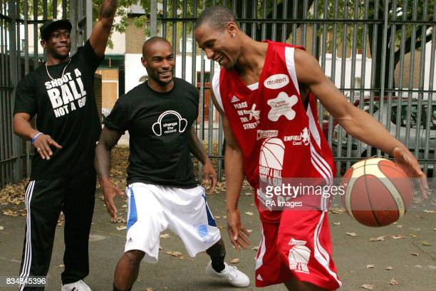 American model Tyson Beckford meets Errol Digby and Leon Hardison young people who have been funded by The Prince's Trust to set up a project that...