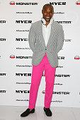 American model Tyson Beckford poses at a Monster headphones launch at Myer on November 4 2013 in Sydney Australia