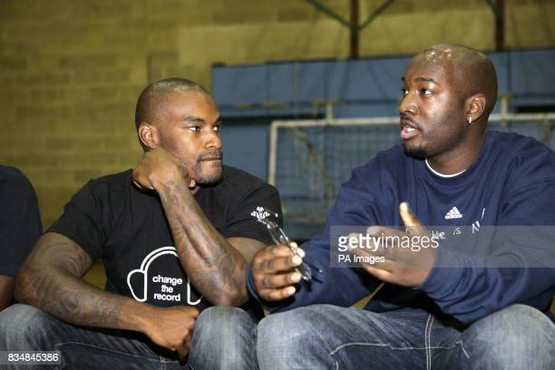 American model Tyson Beckford talks to Mike Baptiste one of a group of young people who have been funded by The Prince's Trust to set up a project...