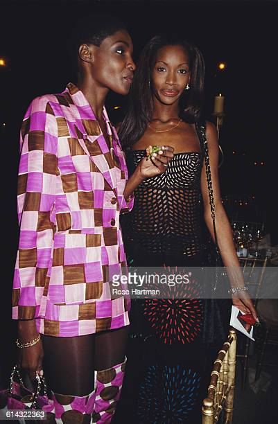 American models Roshumba DourdaWilliams and Beverly Peele at the CFDA Awards in the Lincoln Center New York City 7th February 1994