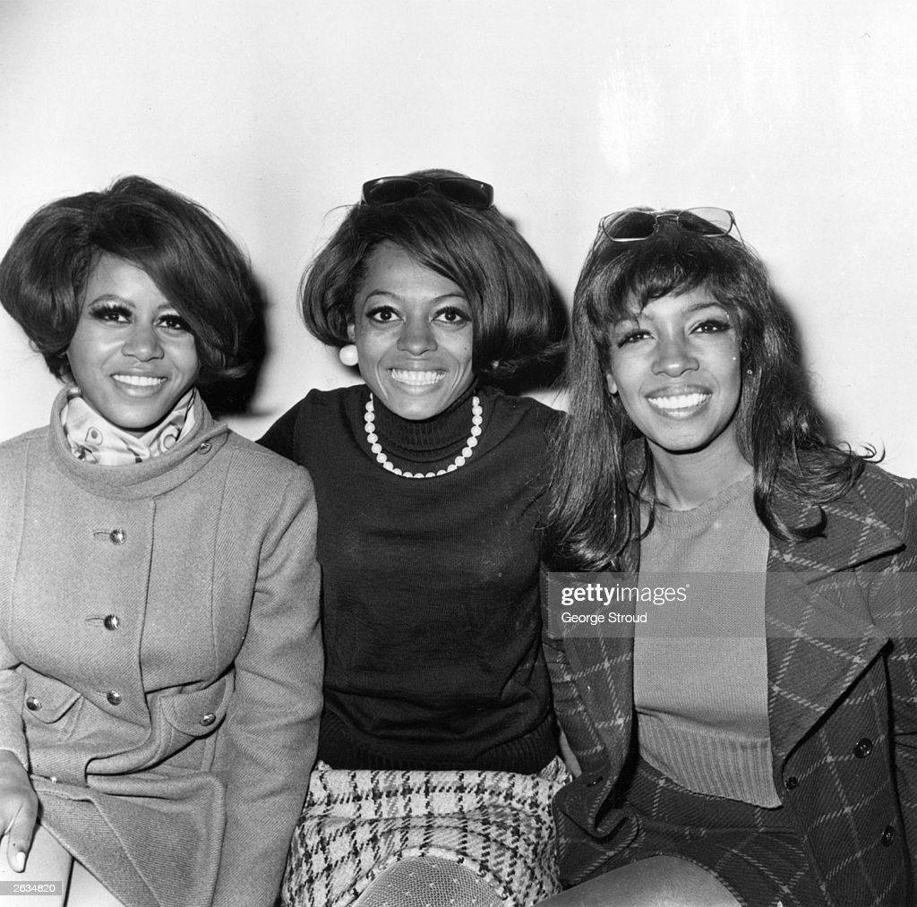 American Motown pop vocal trio The Supremes Mary Wilson Cindy Birdsong and Diana Ross centre Original Publication People Disc HL0212
