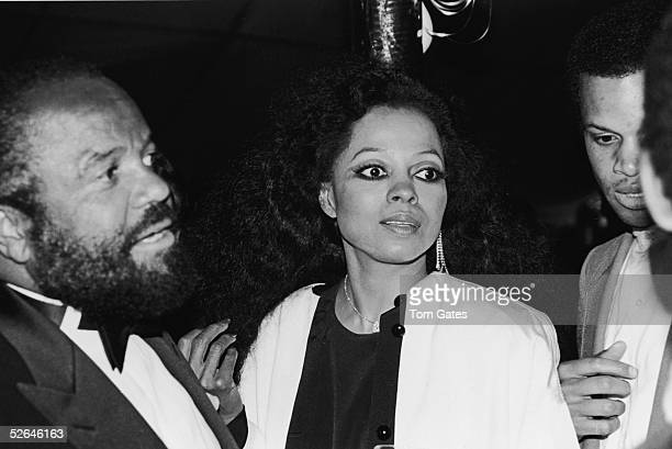American Motown Records founder record executive and producer Berry Gordy stands with American singer Diana Ross during the taping of the television...