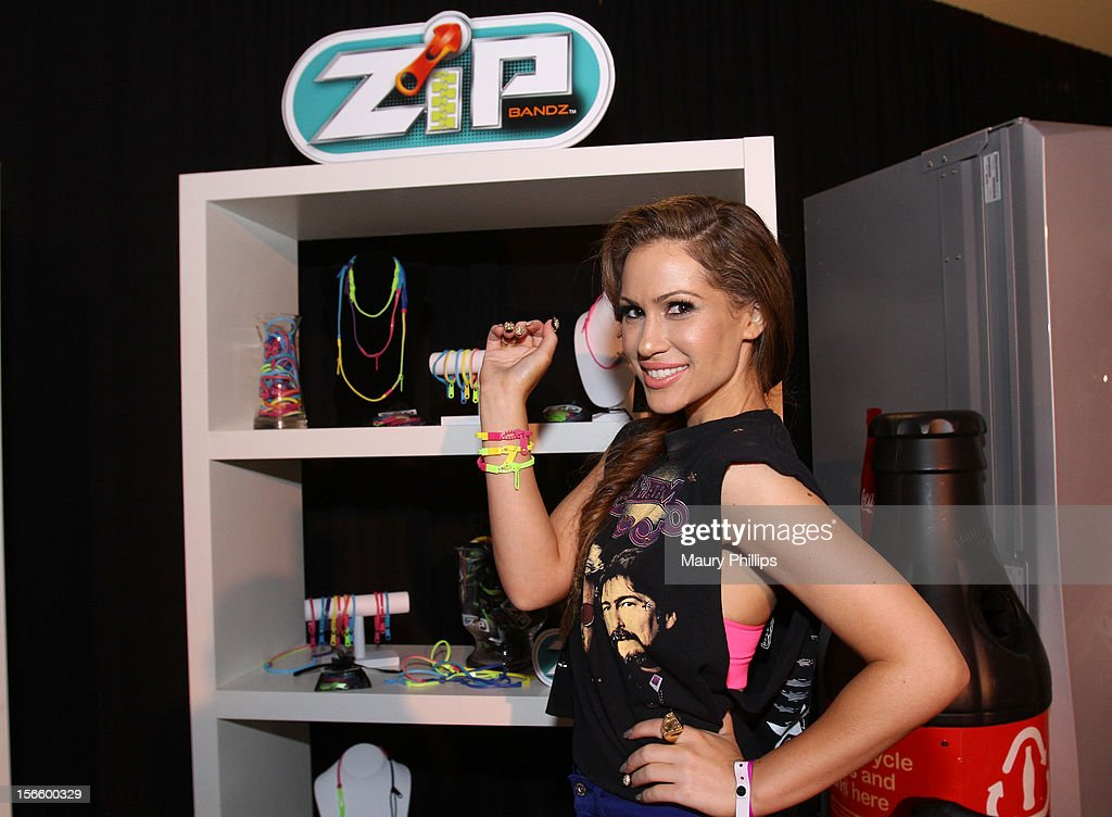 American Music Awards red carpet host Kimberly Cole visits the American Music Awards Artists Gift Lounge - Day 2 at LA Live on November 17, 2012 in Los Angeles, California.