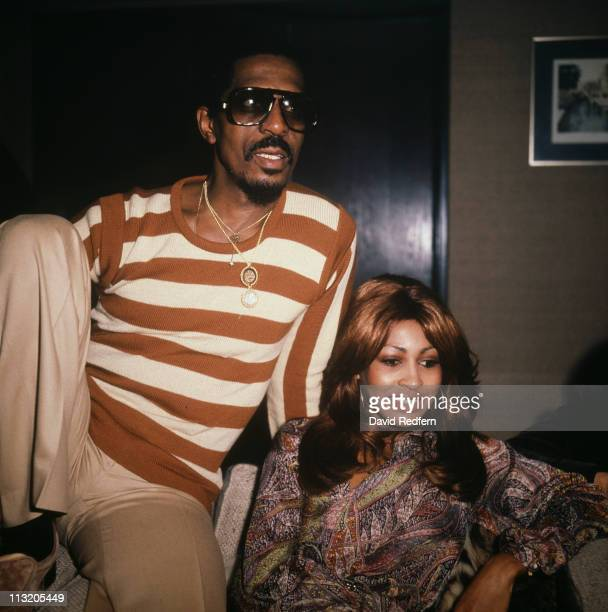 Ike Turner US musician and his wife singer Tina Turner answering questions during a press conference in Great Britain October 1975