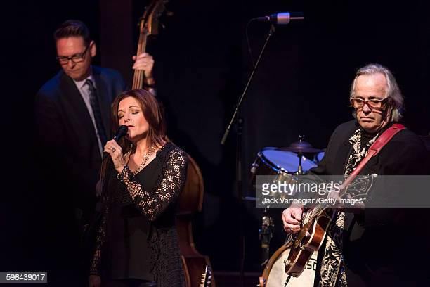 American musican Rosanne Cash performs with the CooderWhiteSkaggs band during a concert in the Carnegie Hall 'Perspectives Rosanne Cash' series at...