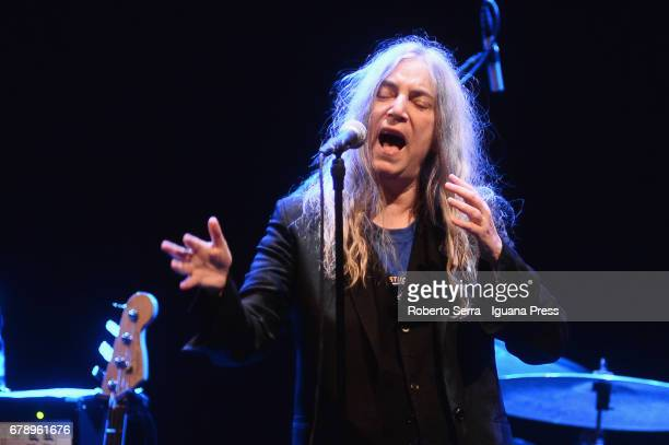 American musician and author Patti Smith performs at Teatro Regio on May 4 2017 in Parma Italy