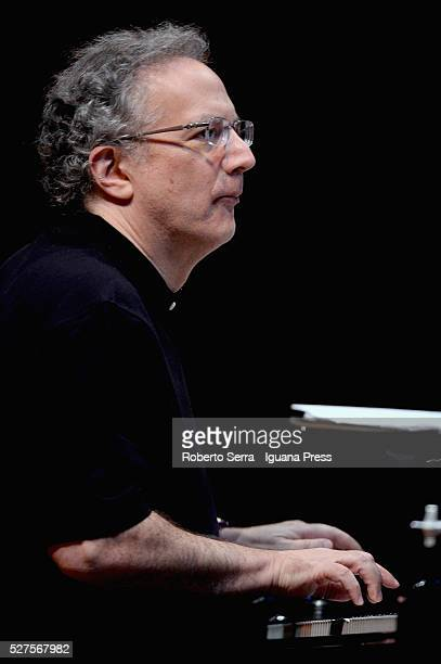 American musician and author Uri Caine performs with his Ensamble for Bologna Festival at Auditorium Manzoni on April 30 2016 in Bologna Italy