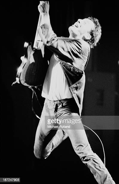 American musician and singersongwriter Bruce Springsteen performs on stage 1981