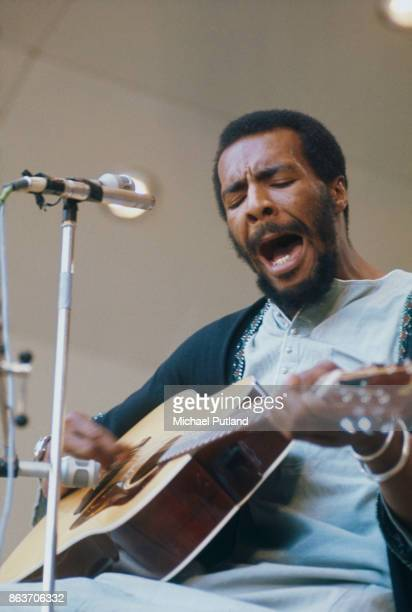 American musician and singersongwriter Richie Havens at Crystal Palace London 3rd June 1972