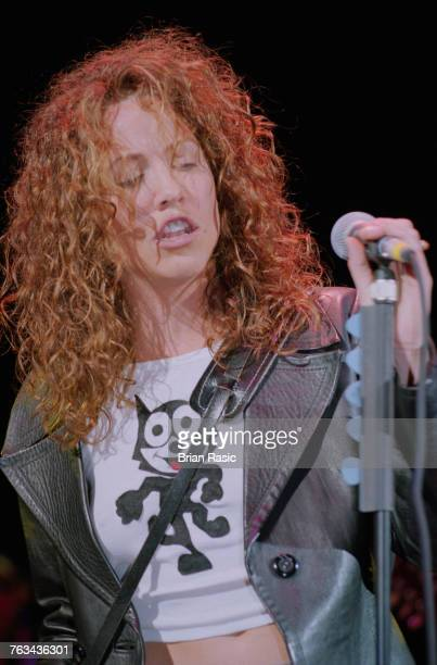 American musician and singersongwriter Sheryl Crow wearing a Felix The Cat tshirt performs live on stage in London in June 1994