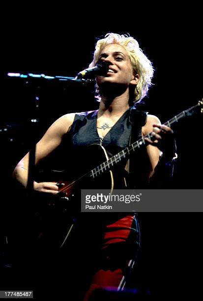 American musician Ani DiFranco performs on stage Chicago Illinois September 10 1997